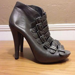 Ash Glen Leather Peep Toe Booties Size 6